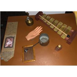 Wooden xylophone and other vintage props