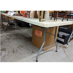 11 Market Tables (approx. 6 ft long)