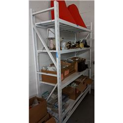 4 shelf metal rack approx. 24 inches deep, approx. 6 ft long and 8 ft. Tall