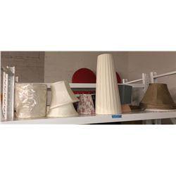 Shelf lot of lampshades