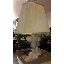 2 vintage marble lamps