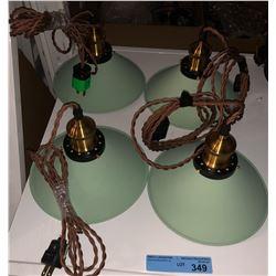 4 Metal hanging lights
