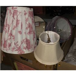 5 Boxes of glass and other lamp shades