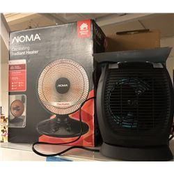 1 Noma Radiant Heater and 1 digital fan heater