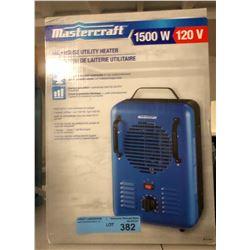 1 mastercraft 1500W (120V) utility heater