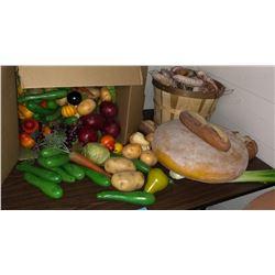 Fake food display