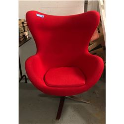 Mid Century Red Swan accent chair (Like new)