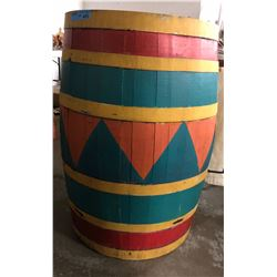 Circus barrel used in a movie