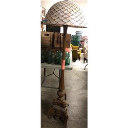 Vintage style floor lamp and glass shades
