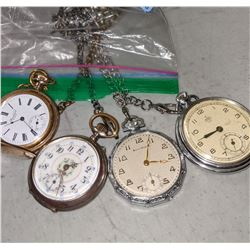 4 Vintage pocket watches