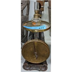 Antique weigh scale and other antique items