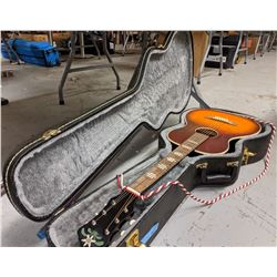 Guitar with a case