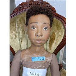 Large Antique African American boy doll