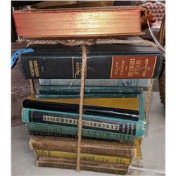 Vintage Wicker basket and books