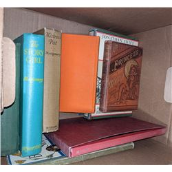 Vintage books and a wooden box
