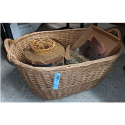 Wicker basket with miscellaneous