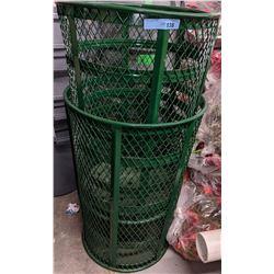 2 metal garbage cans