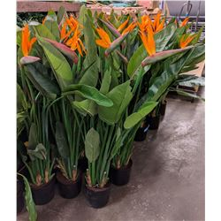 Approx. 20 artificial birds of paradise plants