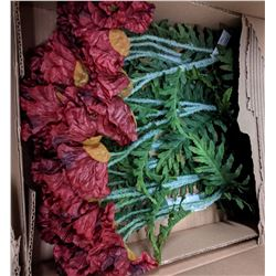 8 boxes of artificial flowers