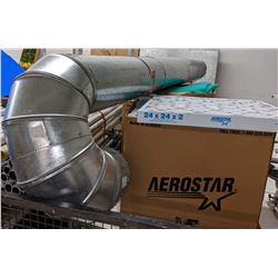 large lot of air conditioning or heat ducting and HEPA filters