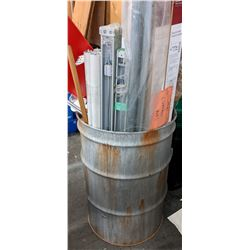 2 metal drums with contents