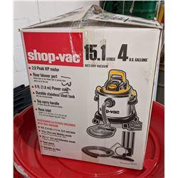 Shopvac wet/dry vacuum open box and plastic bins