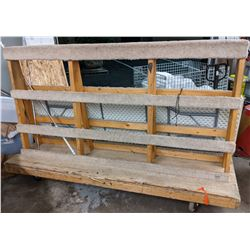 Large double sided Glass cart and market tables