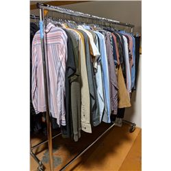 Rack off shirts t-shirts Tommy Hilfiger banana Republic RW approx 50 pieces including rack on wheels