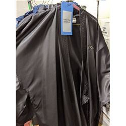 Cover up bathrobes full sleeve T-shirts and trousers approx 20 pieces comes with rack on wheels
