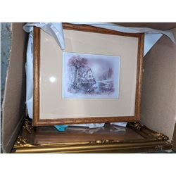 Bolts fabrics and picture frames