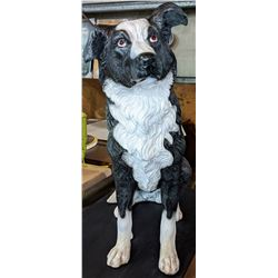 "One Border Collie Poly Resin Statue 28"" tall - brand new"