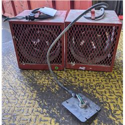 Two electric workshop heaters - working
