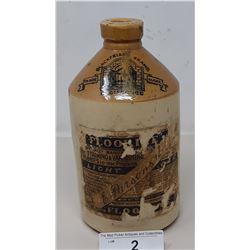 Vintage Stone Crock With Original Label For Varnish