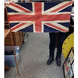 Vintage British Flag On Stick