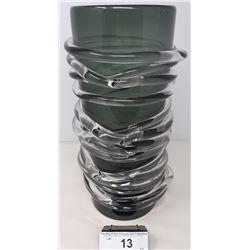 Unusual Hand Blown Art Glass Vase