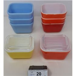 8 Pieces Of Assorted Color Fridge Ware