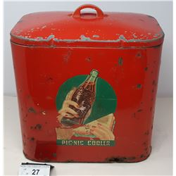 Rare 1930S Coca Cola Cooler With Repaired Bottom