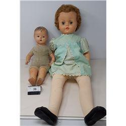 2 Vintage Dolls, One Composition