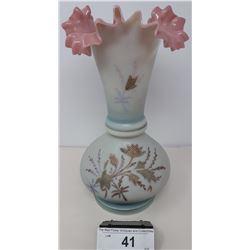 Hand Blown English Bristol Vase Vintage