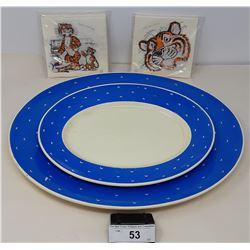 Pair Of Suzie Cooper Platters