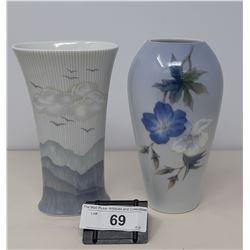 2 Porcelain Vintage Vases