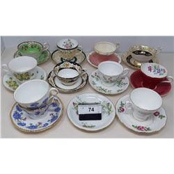 11 Vintage Cups And Saucers