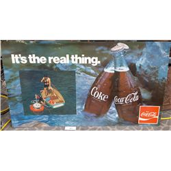 Late 60S Coca Cola Cardboard Advertising Sign