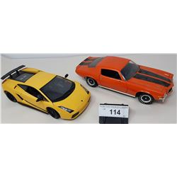 Pair Of Die Cast, Chevy Camaro, Lamborghini