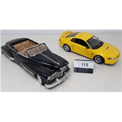 Pair Of Die Cast, 1947 Cadillac, 1999 Mustang Gt