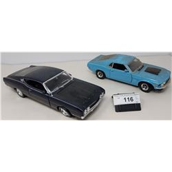Pair Of Die Cast, 1970 Mustang Bosch 429, 1969 Ford Torino