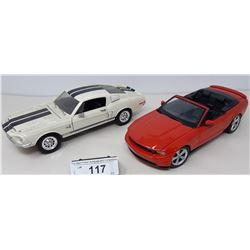 Pair Of Die Cast, 2010 Ford Mustang Gt, 1968 Ford
