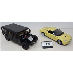 Pair Of Die Cast, Hummer, Thunderbird