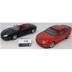 Pair Of Die Cast, 2004 Pontiac Gt By Ertl, Mustang Mock 3