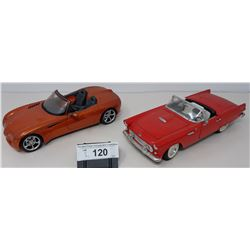 Pair Of Die Cast, Thunderbird And Dodge